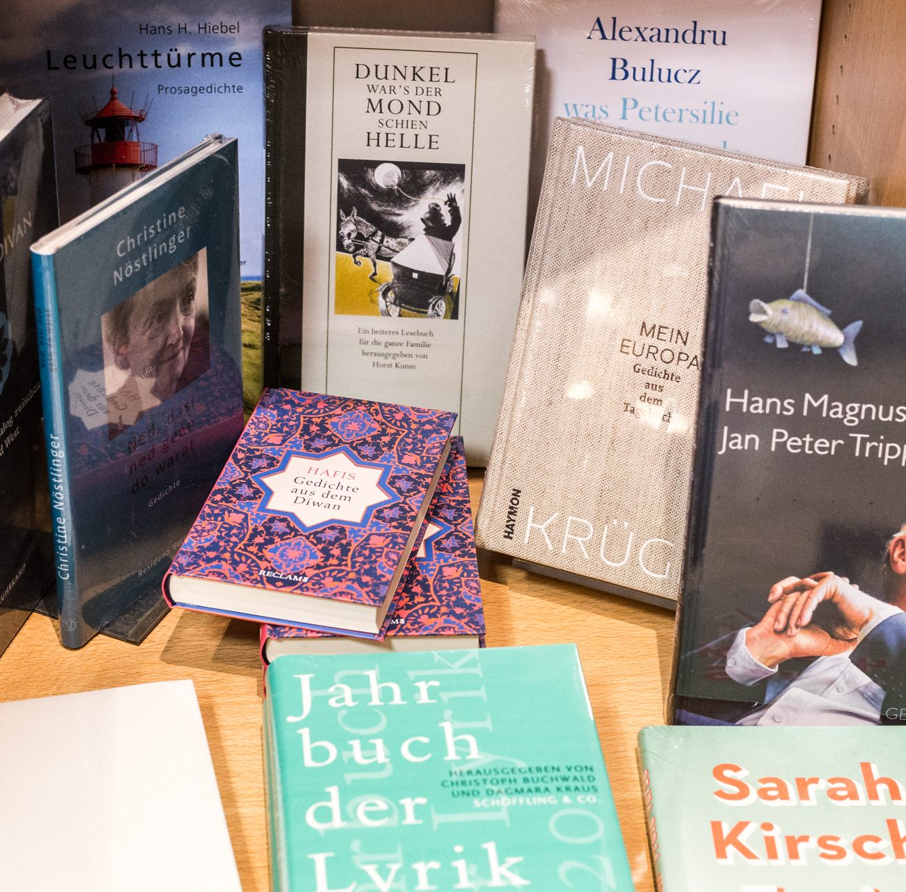 Lyrik | Parkbuchhandlung | Bücherregal | Gedichte | Poetik | Bücher